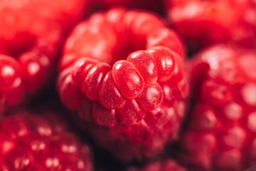 Raspberries Macro Close Up Fototapete