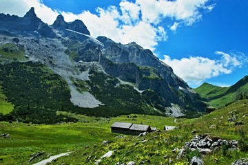 Austrian Alps-Austrian Alps-view on the peak Drei Turme and valley Gauertal