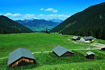 Austrian Alps-view from the path in valley Gauertal