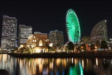 みなとみらいの夜景(神奈川県横浜市)
