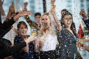 Obraz Business People Party Celebration Success Concept - fototapety do salonu