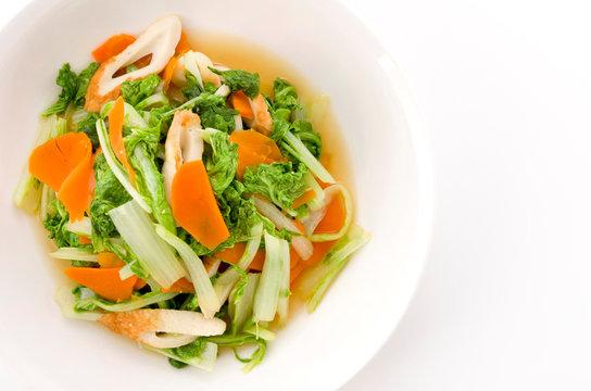 山東菜の炒め物
