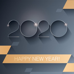 2020 Vector blank template_Happy New Year Cover