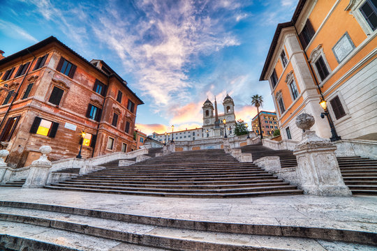 Spanish Steps near Piazza Di Spagna in Rome