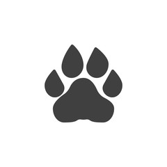 Lion paw print vector icon. filled flat sign for mobile concept and web design. Lion animal footprint glyph icon. Symbol, logo illustration. Vector graphics