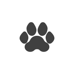 Tiger paw print vector icon. filled flat sign for mobile concept and web design. Tiger animal footprint glyph icon. Symbol, logo illustration. Vector graphics