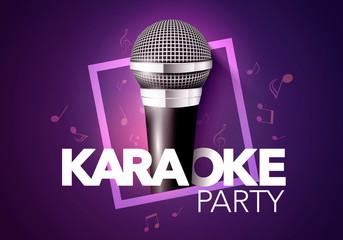 Vector Illustration Karaoke Party Banner