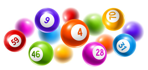 Bingo or lottery colored number balls.