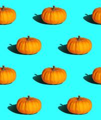 bright seamless background, pumpkin with hard light in pop art slyle