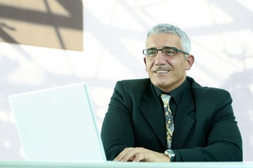 Senior business executive at office desk
