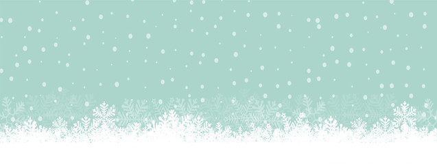 Chritmas background snowflakes teal green snow winter Illustration Vector eps10