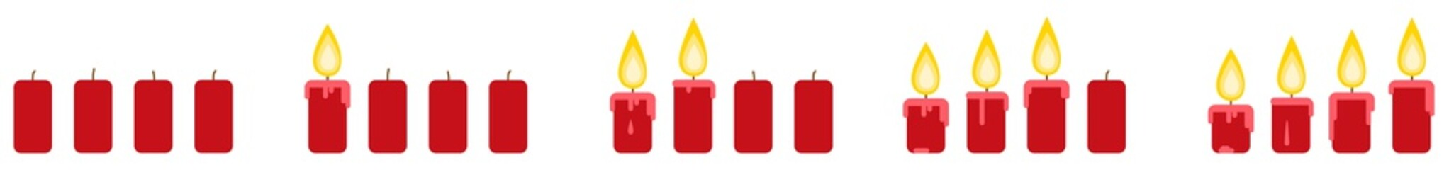 Christmas Advent candles Illustration Vector eps10