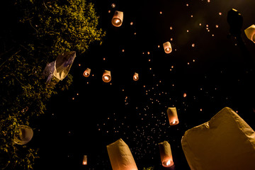 The Lanter Festival in Chiang Mai, Thailand