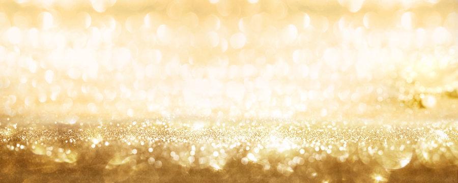 Golden sparkling party background