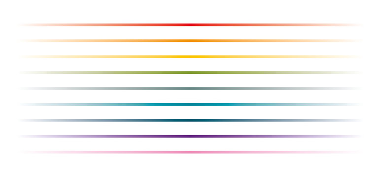 Simple Rainbow Dividers Set on White Background
