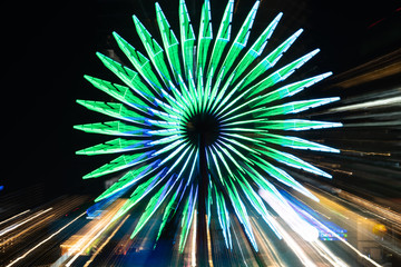 神戸 観覧車の夜景