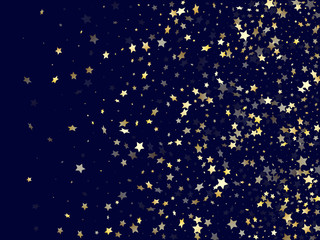 Gold falling star sparkle elements of glitter gradient vector background. Wall mural