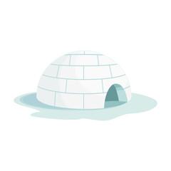 Ice igloo vector icon.Cartoon vector icon isolated on white background ice igloo.