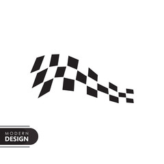 Fotobehang F1 race flag icon with modern design. flat style for graphic design template. suitable for logo, web, UI, mobile app. vector illustration