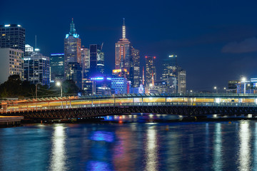Fotomurales - The Yarra River and the Melbourne city