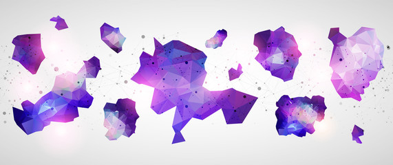 Triangle pattern shape for wallpaper. Illustration low poly, polygonal design. Vector