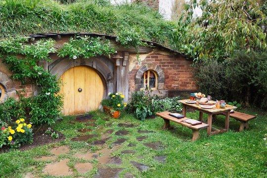 MATAMATA, NEW ZEALAND - APRIL 2, 2016: Hobbit home in the movie
