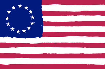 Sketching betsy ross flag