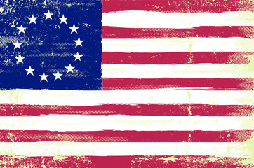 A grunge sketching betsy ross flag
