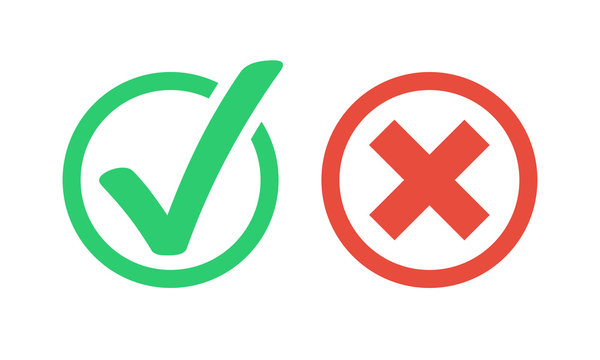 green check red x