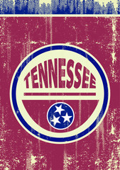 A vintage Tennessee poster with a a texture for your advertising