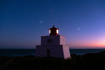 Amphitrite Point Lighthouse, Vancouver Island, British Columbia, Canada Wall mural