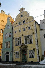 """Oldest buildings in Riga old town - """"the Three Brothers"""", Riga, Latvia"""