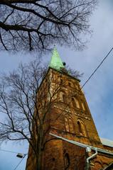 Clock on St. James's Cathedral, Riga, Latvia