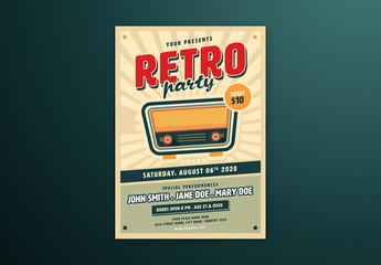 Retro Music Flyer Layout