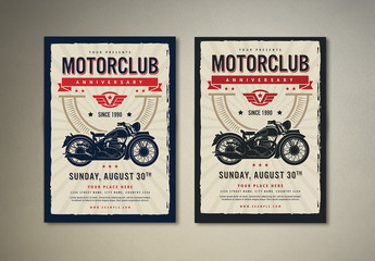 Motor Club Event Flyer Layout