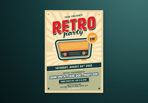 Retro Music Flyer Layout