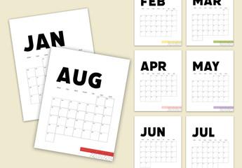 Minimal Calendar Layout Set