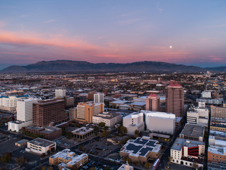 Albuquerque and the Sandias at Dusk