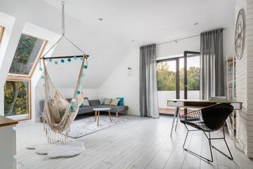 Modern attic room