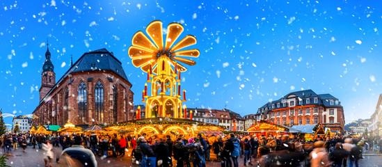 Weihnachtsmarkt, Heidelberg, Baden-Württemberg, Deutschland