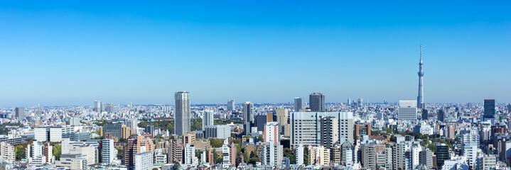 Fototapeten Tokio (東京都-風景パノラマ)ラウンジから望む墨田方面の風景1
