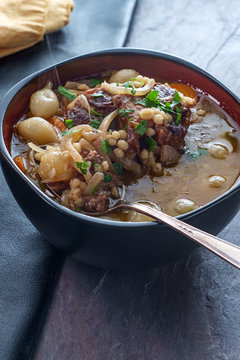 Oxtail Soup Onion Barley