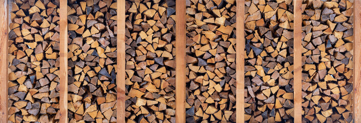 woodpile for fireplace, background of firewood