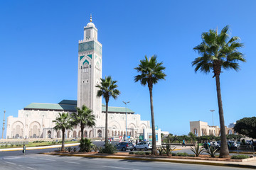 Foto op Canvas Marokko Hassan II Mosque in Casablanca