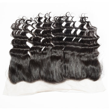 loose wave black human hair weaves extensions lace frontal