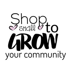 Shop Small quote in black text