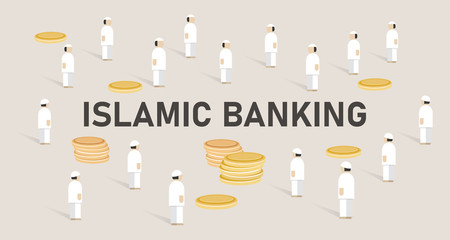 Islamic banking. Concept of managing money using shariah Islam religion law