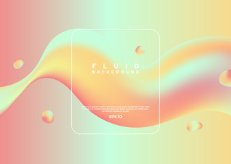 Colorful fluid design wave element modern clean design with space for your text Wall mural