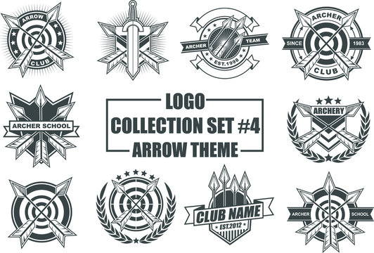 Set of Design Elements with Arrow Theme