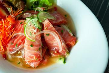 Tuna  spicy salad sauce , Thai spicy salad